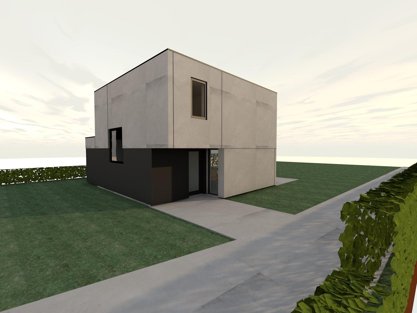 Nieuw Project: Staalbouwwoning te Brakel (detail 1)