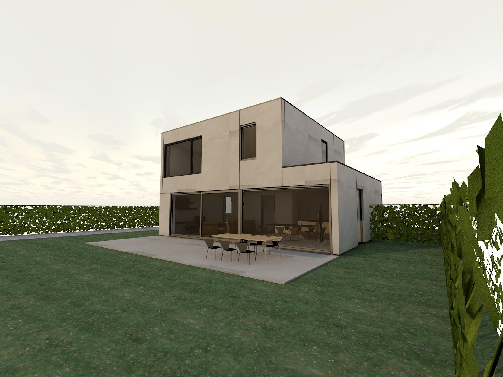 Nieuw Project: Staalbouwwoning te Brakel (detail 2)
