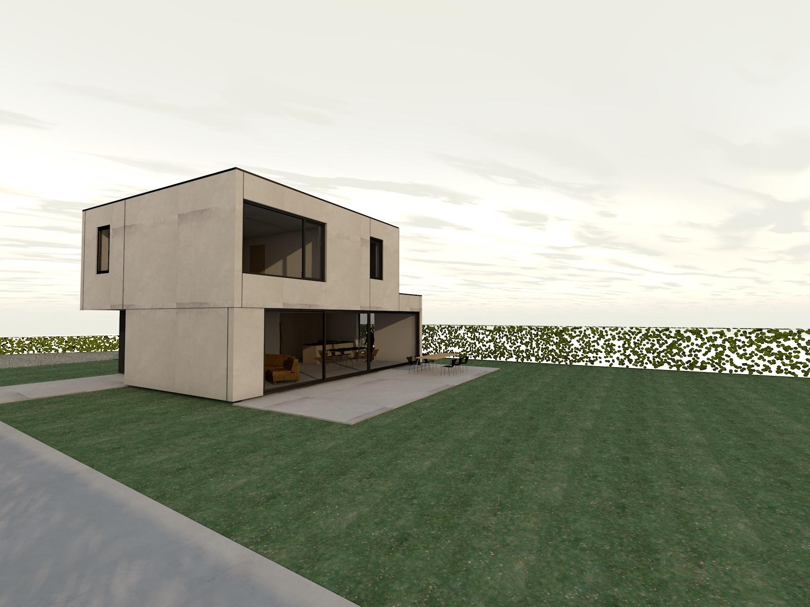 Nieuw Project: Staalbouwwoning te Brakel (detail 3)