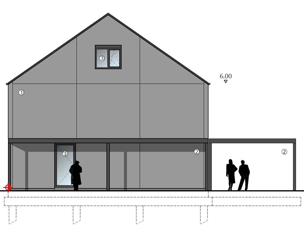 Nieuw Project: Staalbouwwoning te Erpe-Mere (detail 1)