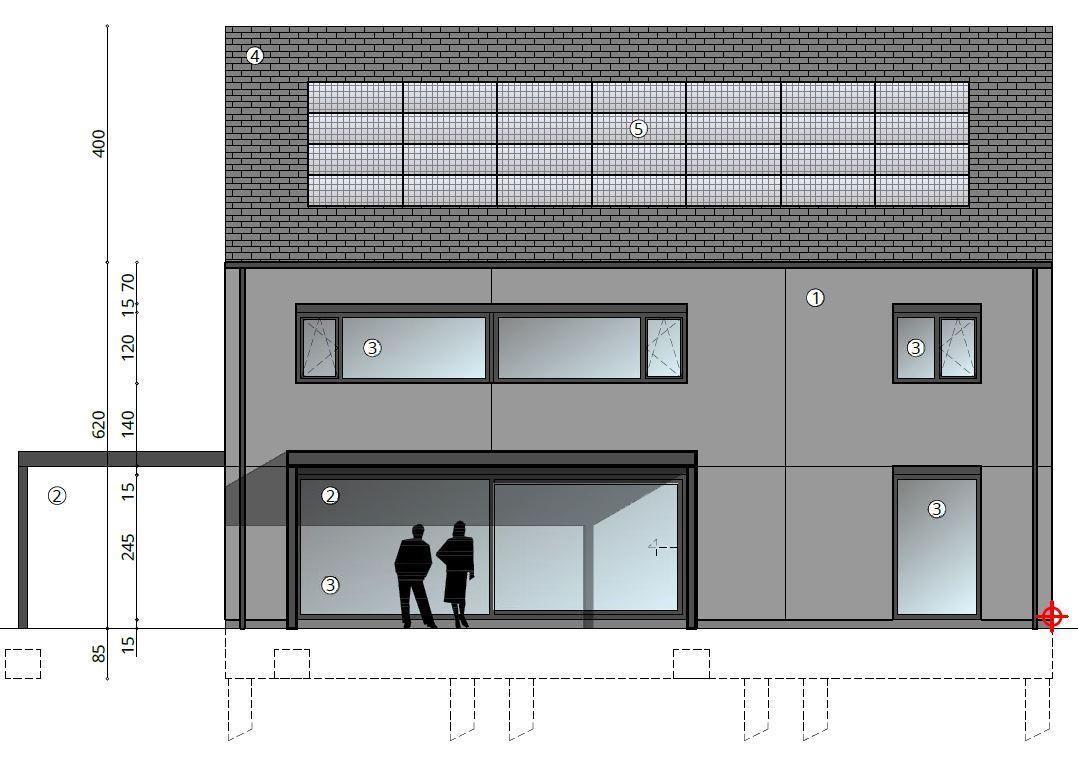 Nieuw Project: Staalbouwwoning te Erpe-Mere (detail 2)