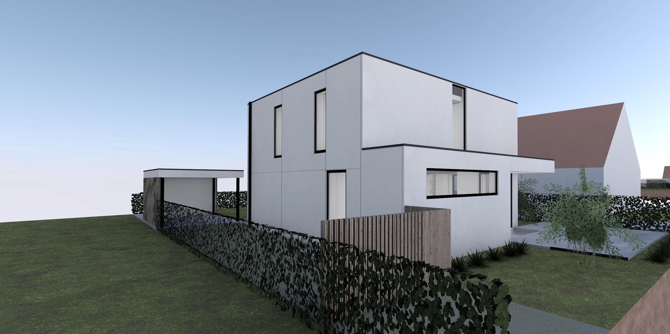 Nieuw Project: Staalbouwwoning te Herzele (detail 1)