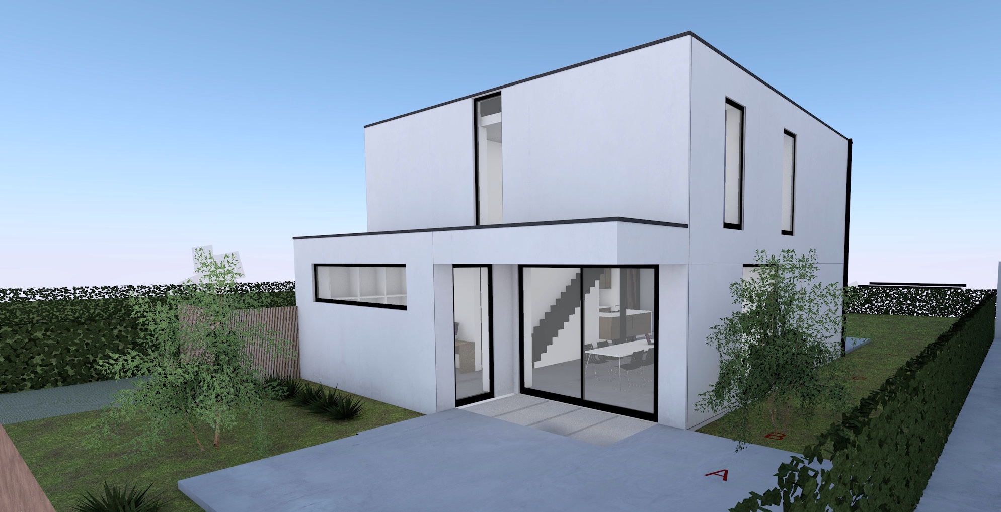 Nieuw Project: Staalbouwwoning te Herzele (detail 2)